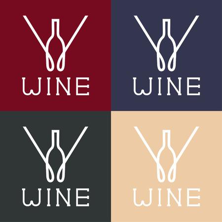 wine  shabby: wine monogram Illustration