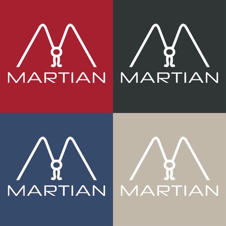 martian: martian monogram Illustration
