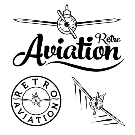 retro aviation label
