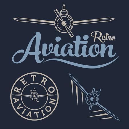 airscrew: retro aviation label