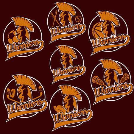 spartan warrior as emblem of sports teams Vector