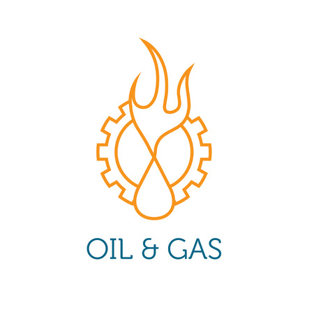 oil and gas industry: oil and gas industry iluustration