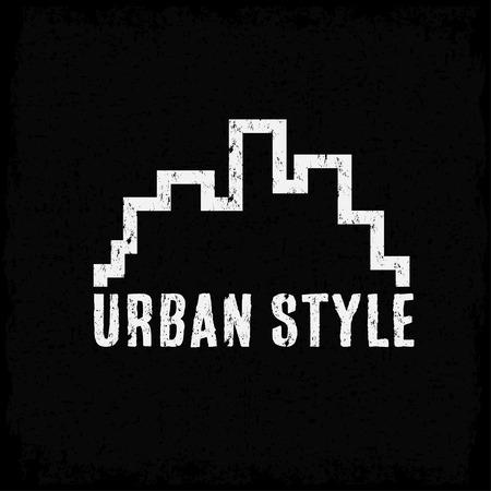 urban style: grunge urban style vector design template