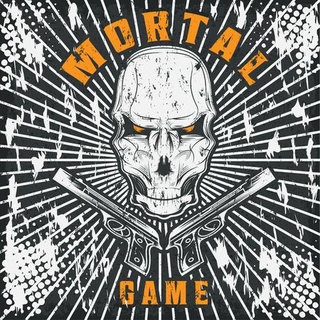 mortal: mortal game illustration with skull and guns