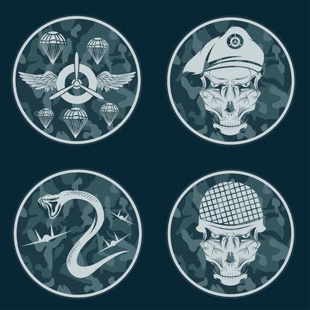 special unit military emblem set vector design template royalty free