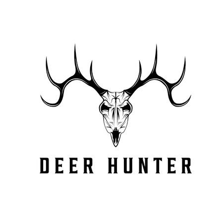 deer skull vector design template Vector
