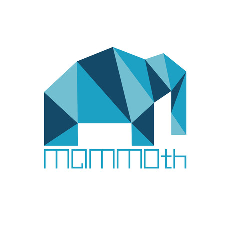 mammoth: mammoth in polygon style
