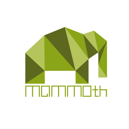 tusks: mammoth in polygon style