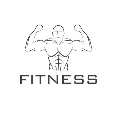 defined: Bodybuilder Fitness Model Illustration