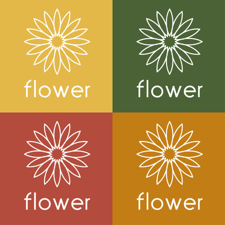 abstract symbolism: sunflower vector design template