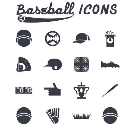 cleats: flat design icons of baseball