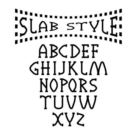 slab: slab style alphabet