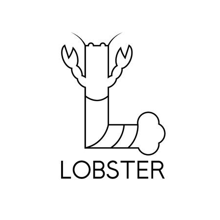 l plate: lobster monogram