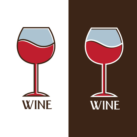 tipple: wine glass vector design template