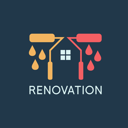Renovation House remodeling Vector
