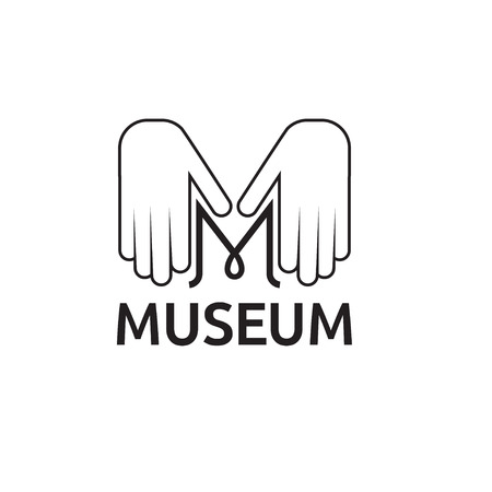 governmental: monograma museo con manos