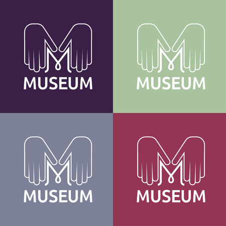 governmental: museum monogram with hands