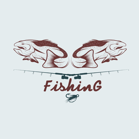 walleye: vintage fishing design template Illustration