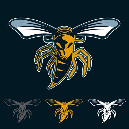 wasp: aggressive bee or wasp mascot