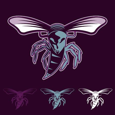 aggressive: aggressive bee or wasp mascot