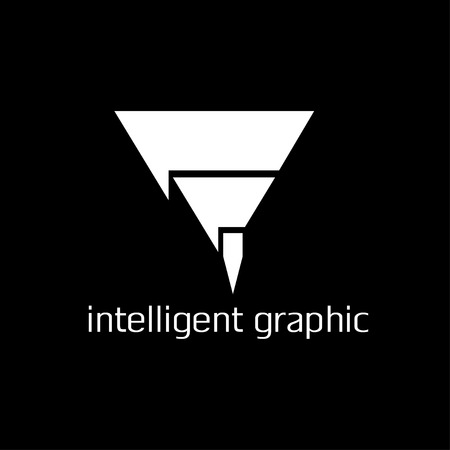 intelligent graphic concept with pencil