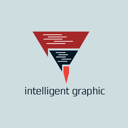 intelligent: intelligent graphic concept with pencil
