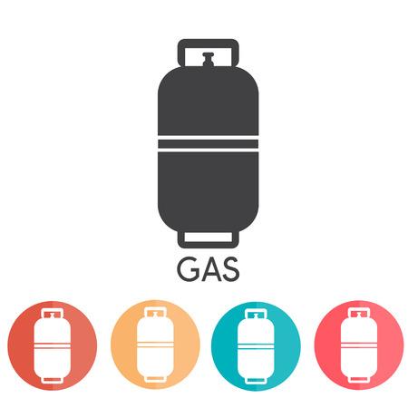 Iconos del Web de gas propano líquido ilustración vectorial abd Vectores