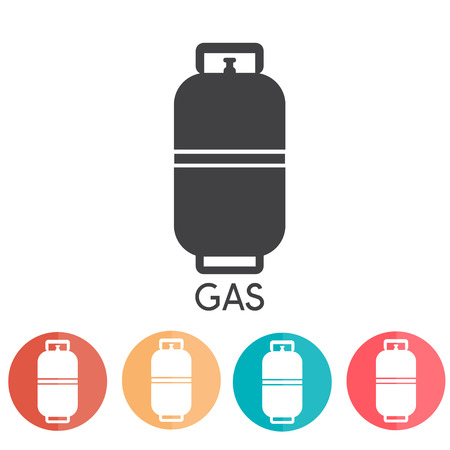 Liquid Propane Gas Vector Illustration abd web icons
