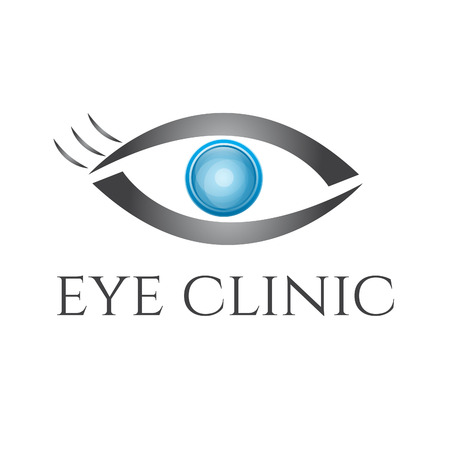 clinics: Eye vision vector design template