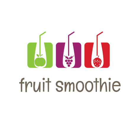 fruit smoothie: Illustration concept smoothies icons. vector Illustration