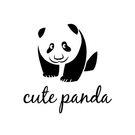 panda bear: Illustration of cute panda. Vector