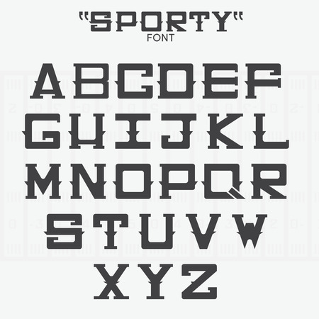 major league: Font of sports theme. Vector Illustration