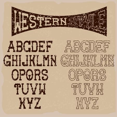 cowboy gun: grunge western alphabet
