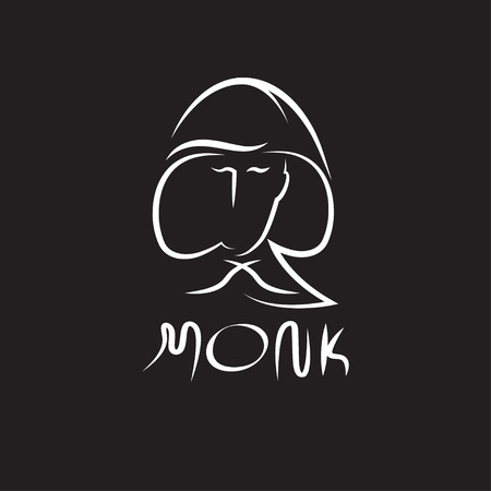 monk face outline illustration Stock Illustratie
