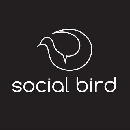 lovebird: social bird concept vector design template