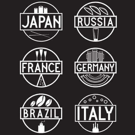 international food: international food marks labels set