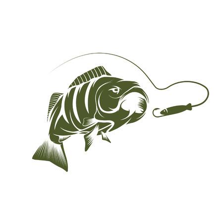 Bass Und Köder Design-Vorlage Lizenzfrei Nutzbare Vektorgrafiken ...