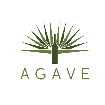 agave: agave and bottle design template
