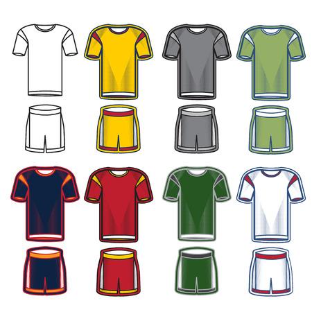 soccer uniform: Set of soccer uniform