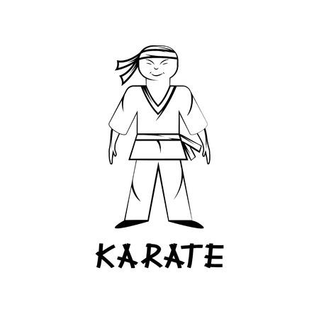kungfu: cartoon karate young man illustration
