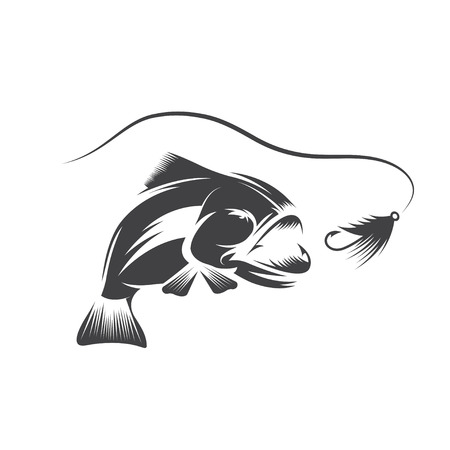 bas en lokken design template Stock Illustratie