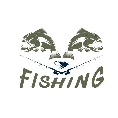 minnow: vintage fishing design template Illustration