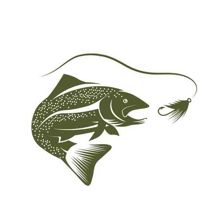 spawning: trout and lure design template