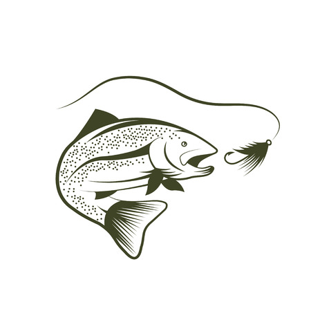 fin swimming: trout and lure design template