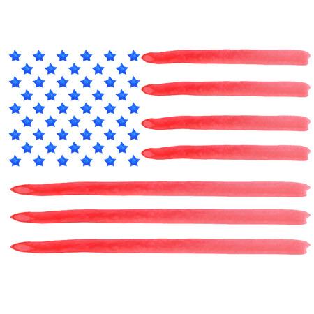 Aquarell-amerikanische Flagge. Vector Standard-Bild - 42626056