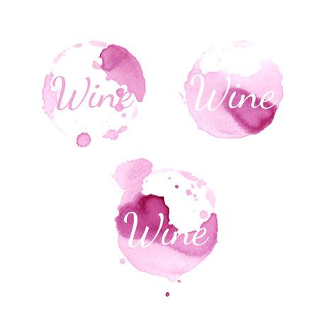circles vector: Wine stain circles. Vector Illustration