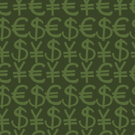 transact: Seamless pattern hand drawn sketch icons currency. Vector Illustration