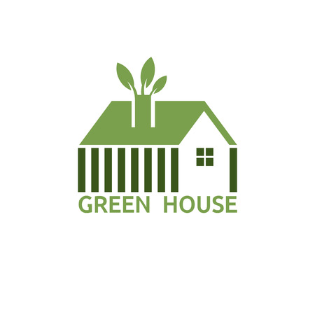 green house for real estate business vector design