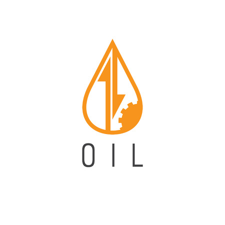 oil industry: fall and rise of oil prices vector logo