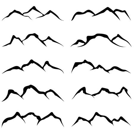 rocky mountain: vector set of mountains Illustration